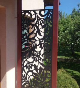 zahradní zástěna, exteriérová zástěna, zástěna ke vchodu