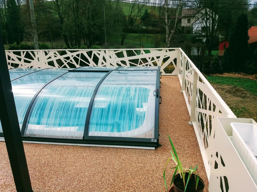 hliníkové ploty, hliníkový plot, zábradlí terasy