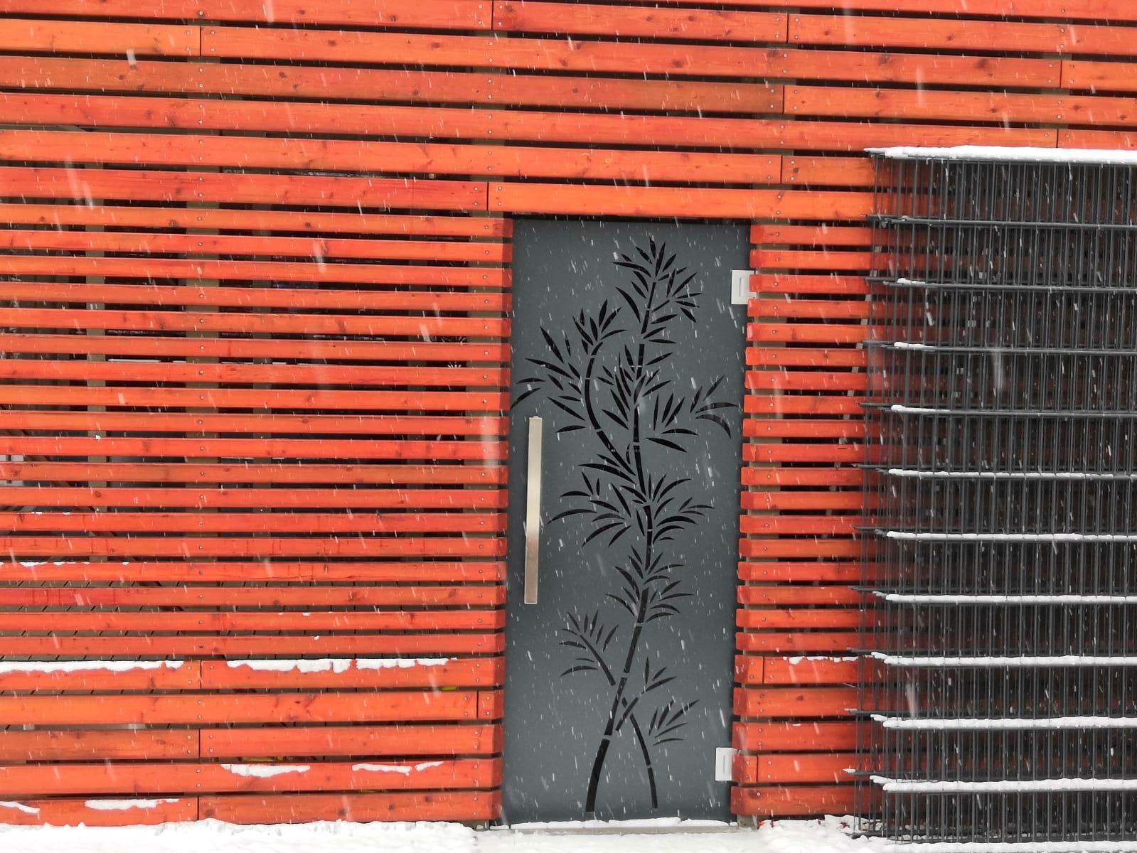 Designová vchodová branka, vchodové dveře, designové dveře, dveře z hliníku