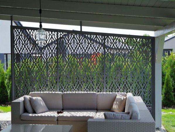 zástěna pergoly, zahradní nábytek, hliníkové ploty