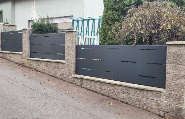 hliníkový plot černá linka