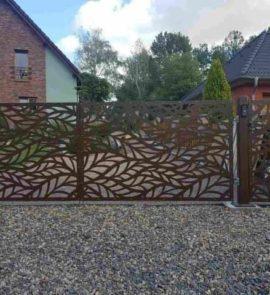 vjezdová brána, výplně bran