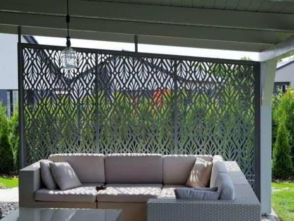 zahradní zástěna pergoly, zahradní design